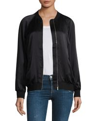 Equipment - Black Kendrix Silk Bomber Jacket - Lyst
