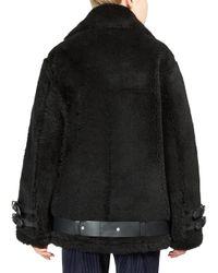Acne   Black Velocite Shear Lamb Fur Jacket   Lyst