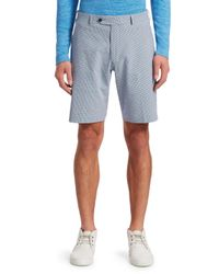 Saks Fifth Avenue Blue Collection Gingham Seersucker Shorts for men