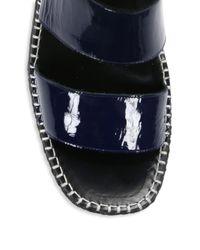 Rag & Bone Blue Tara Espadrille Ankle Strap Sandals