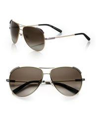 Chloé Metallic Eric 60mm Aviator Sunglasses
