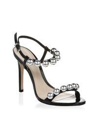 Schutz - Black Nellie Leather Stiletto Sandals - Lyst