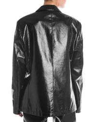 MSGM Black Oversized One-button Blazer