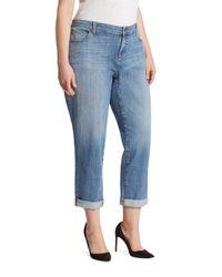 Eileen Fisher - Blue Organic Cotton Boyfriend Jeans - Lyst
