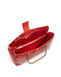 Ferragamo - Red Melike Saffiano Leather Chain Shoulder Tote - Lyst