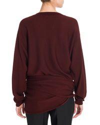 Jil Sander | Purple Wool Side Knot Sweater | Lyst
