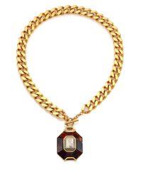 House of Lavande - Metallic Batari Pyrite Pendant Necklace - Lyst