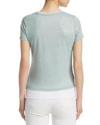 Majestic Filatures Multicolor Layered Linen Short-sleeve Tee