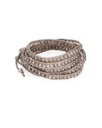 Chan Luu - Metallic Labradorite Beaded Wrap Bracelet - Lyst
