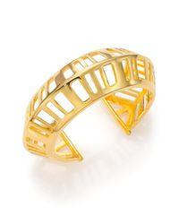 Nest - Metallic Cage Cuff Bracelet - Lyst