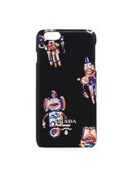 Prada - Black Robot Saffiano Leather Iphone 6 Case - Lyst