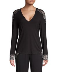 Cosabella Black Lace-trimmed Lounge Top