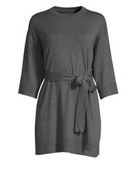 Eileen Fisher Gray Women's High Roundneck Tunic - Ash - Size Small