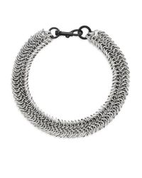 Rebecca Minkoff - Metallic Dog Clip Chainmail Necklace - Lyst