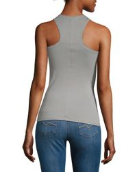Skin Organic - Gray Cotton Tank Top - Lyst