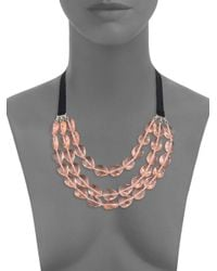 BaubleBar - Pink Stassi Layered Collar Necklace - Lyst