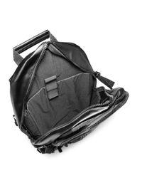 Superdry Black Only Tarp Backpack for men