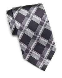Burma Bibas - Black Faded Plaid Silk Tie - Lyst
