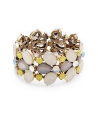 R.j. Graziano | Metallic Multi-bead Stretch Bracelet | Lyst