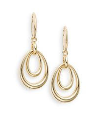 Saks Fifth Avenue | Metallic Double-drop Earrings | Lyst