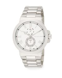 Saks Fifth Avenue - Metallic Stainless Steel Coin-edge Multi-function Watch - Lyst