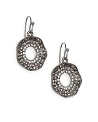 Saks Fifth Avenue | Metallic Pavà Wave Disc Earrings | Lyst