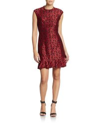 ABS By Allen Schwartz - Floral Embroidered Cutout-back Dress - Lyst