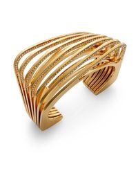 Vita Fede - Metallic Futturo Pavà Crystal Cut Bracelet/goldtone - Lyst