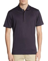 Robert Graham | Black Classic-fit Textured Cotton Polo for Men | Lyst