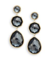 Ippolita | Metallic Rock Candy Crazy 8's Hematite & 18k Yellow Gold Drop Earrings | Lyst