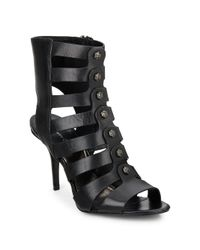 Kenneth Cole | Black Thatford Leather Gladiator Sandals | Lyst