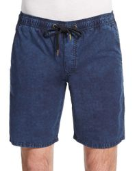 Ezekiel - Blue Kamden Acid-wash Cotton Shorts for Men - Lyst