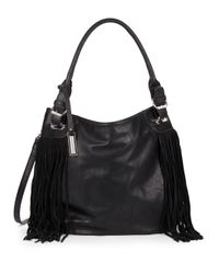 Urban Originals | Black Lust Fringed Faux Leather Shoulder Bag | Lyst