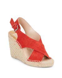 Dolce Vita | Pink Sovay Suede Espadrille Wedge Sandals | Lyst