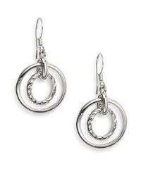 Nine West - Metallic Concentric Drop Earrings - Lyst