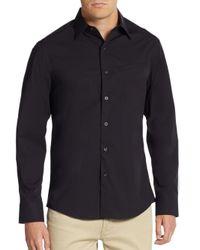 Vince Camuto   Black Regular-fit Mock-pocket Sportshirt for Men   Lyst