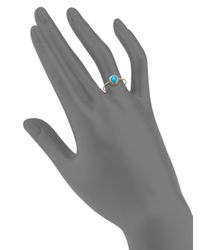 Anzie - Metallic Classique Turquoise & 14k Yellow Gold Rope Ring - Lyst