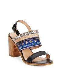 Catherine Malandrino   Black Yancy Embellished Sandals   Lyst