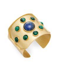 Stephanie Kantis - Green Rejoice Malachite & Blue Lapis Cuff Bracelet - Lyst