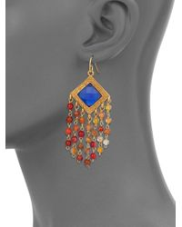 Stephanie Kantis - Multicolor Olympia London Blue Crystal & Carnelian Tassel Earrings - Lyst
