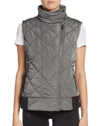Marc New York Gray Funnel-neck Puffer Vest