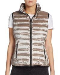 Marc New York Metallic Down-fill Puffer Vest