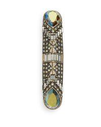 Heidi Daus | Metallic Captivating Swarovski Crystal Cylinder Pin | Lyst