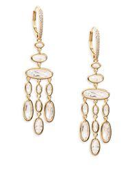 Adriana Orsini | Metallic Oval Chandelier Earrings | Lyst