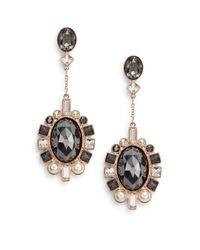 Swarovski - Pink Venetie Crystal Drop Earrings - Lyst