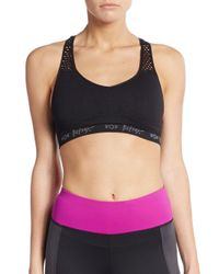 Betsey Johnson | Black Seamless Sports Bra | Lyst