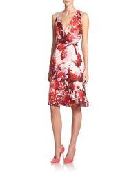 Carolina Herrera - Multicolor Floral Silk Dress - Lyst