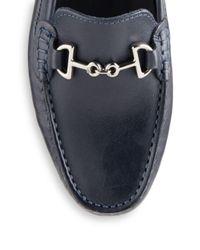 Saks Fifth Avenue - Blue Leather Bit Driver Moccasins - Lyst