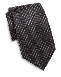 Saks Fifth Avenue - Black Silk Woven Circle Tie for Men - Lyst