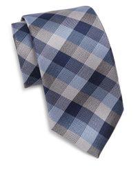 Saks Fifth Avenue   Blue Silk Tri-color Tie for Men   Lyst